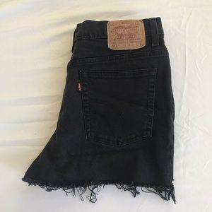 Vintage Levi's 512 High Waisted Black Shorts